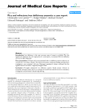 "Báo cáo y học: ""Pica and refractory iron deficiency anaemia: a case report"""