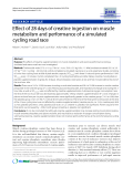 """Báo cáo y học: """" Effect of 28 days of creatine ingestion on muscle metabolism and performance of a simulated cycling road race"""""""