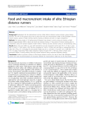 "Báo cáo y học: "" Food and macronutrient intake of elite Ethiopian distance runners"""