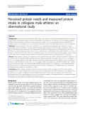 "Báo cáo y học: ""  Perceived protein needs and measured protein intake in collegiate male athletes: an observational study"""