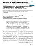 """Báo cáo y học: """"  Pneumopericardium should be considered with electrocardiogram changes after blunt chest trauma: a case report"""""""