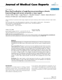 """Báo cáo y học: """"Rare ileal localisation of angiolipoma presenting as chronic haemorrhage and severe anaemia: a case report"""""""