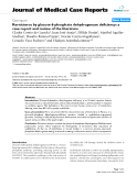 "Báo cáo y học: "" Kernicterus by glucose-6-phosphate dehydrogenase deficiency: a case report and review of the literature"""