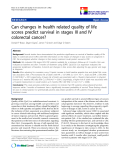 "báo cáo khoa học:""Can changes in health related quality of life scores predict survival in stages III and IV colorectal cancer?"""