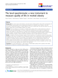 """báo cáo khoa học:"""" The laval questionnaire: a new instrument to measure quality of life in morbid obesity"""""""