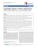 "báo cáo khoa học:"" Psychological distress of patients suffering from restless legs syndrome: a cross-sectional study"""