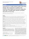"báo cáo khoa học:"" Improvement in health-related quality of life after therapy with omeprazole in patients with coronary artery disease and recurrent angina-like chest pain. A double-blind, placebo-controlled trial of the SF-36 survey"""