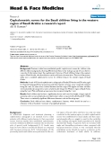 """báo cáo khoa học:""""  Cephalometric norms for the Saudi children living in the western region of Saudi Arabia: a research report"""""""