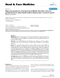 """báo cáo khoa học:""""  Signs and symptoms of temporomandibular disorders and oral parafunctions in urban Saudi arabian adolescents: a research report"""""""