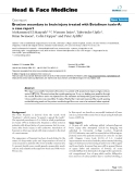 "báo cáo khoa học:""  Bruxism secondary to brain injury treated with Botulinum toxin-A: a case report"""