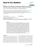 """báo cáo khoa học:"""" Principles of cartilage tissue engineering in TMJ reconstruction"""""""
