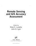 Remote Sensing and GIS Accuracy Assessment - Chapter 1
