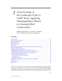 WILDLIFE SCIENCE: LINKING ECOLOGICAL THEORY AND MANAGEMENT APPLICATIONS - CHAPTER 2
