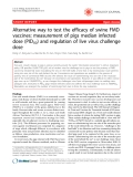 "Báo cáo y học: ""Alternative way to test the efficacy of swine FMD vaccines: measurement of pigs median infected dose (PID50) and regulation of live virus challenge dose"""