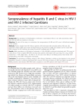 "Báo cáo y học: ""Seroprevalence of hepatitis B and C virus in HIV-1 and HIV-2 infected Gambians"""