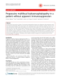 "Báo cáo y học: "" Progressive multifocal leukoencephalopathy in a patient without apparent immunosuppression"""
