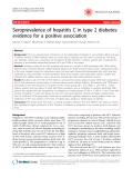"Báo cáo y học: "" Seroprevalence of hepatitis C in type 2 diabetes: evidence for a positive association"""