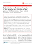 "Báo cáo y học: ""Epidemiological manifestations of hepatitis C virus genotypes and its association with potential risk factors among Libyan patients"""