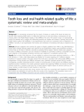 "báo cáo khoa học:"" Tooth loss and oral health-related quality of life: a systematic review and meta-analysis"""