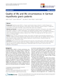 "báo cáo khoa học:""  Quality of life and life circumstances in German myasthenia gravis patients"""