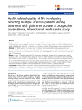 "báo cáo khoa học:"" Health-related quality of life in relapsing remitting multiple sclerosis patients during treatment with glatiramer acetate: a prospective, observational, international, multi-centre study"""