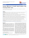 "báo cáo khoa học:"" Gender differences in health related quality of life of young heroin users"""