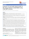 "báo cáo khoa học:"" Evaluation of oral health-related quality of life among Sudanese schoolchildren using Child-OIDP inventory"""