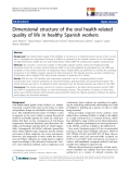 "báo cáo khoa học:"" Dimensional structure of the oral health-related quality of life in healthy Spanish workers"""