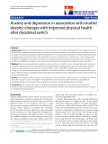 """báo cáo khoa học:""""  Anxiety and depression in association with morbid obesity: changes with improved physical health after duodenal switch"""""""