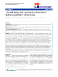 """báo cáo khoa học:"""" The well-being and treatment satisfaction of diabetic patients in primary care"""""""