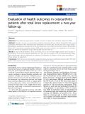 """báo cáo khoa học:"""" Evaluation of health outcomes in osteoarthritis patients after total knee replacement: a two-year follow-up"""""""