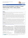 "báo cáo khoa học:"" Clinical and psychological correlates of healthrelated quality of life in obese patients"""