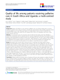 "báo cáo khoa học:"" Quality of life among patients receiving palliative care in South Africa and Uganda: a multi-centred study"""