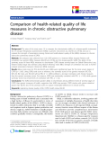 "báo cáo khoa học:""Comparison of health-related quality of life measures in chronic obstructive pulmonary disease"""