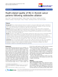 """báo cáo khoa học:""""  Heath-related quality of life in thyroid cancer patients following radioiodine ablation"""""""