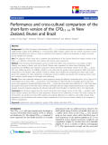 "báo cáo khoa học:""  Performance and cross-cultural comparison of the short-form version of the CPQ11-14 in New Zealand, Brunei and Brazil"""