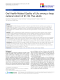 "báo cáo khoa học:""  Oral Health-Related Quality of Life among a large national cohort of 87,134 Thai adults"""