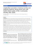 """báo cáo khoa học:""""  Longitudinal association of physical activity and sedentary behavior during leisure time with health-related quality of life in communitydwelling older adults"""""""