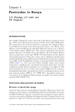 Pesticide Residues in Coastal Tropical Ecosystems: Distribution, fate and effects - Chapter 4