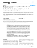 """Báo cáo khoa học: """" Multipathogen infections in hospitalized children with acute respiratory infections"""""""