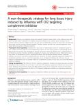 """Báo cáo khoa học: """" A new therapeutic strategy for lung tissue injury induced by influenza with CR2 targeting complement inhibitior"""""""