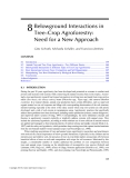 ECOLOGICAL BASIS OF AGROFORESTRY - CHAPTER 8