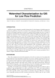 GIS for Water Resources and Watershed Management - Chapter 9
