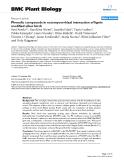 """báo cáo khoa học: """"  Phenolic compounds in ectomycorrhizal interaction of lignin modified silver birch"""""""
