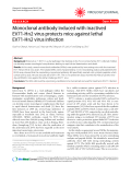 "Báo cáo y học: "" Monoclonal antibody induced with inactived EV71-Hn2 virus protects mice against lethal EV71-Hn2 virus infection"""