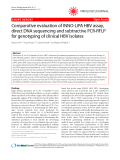 "Báo cáo y học: "" Comparative evaluation of INNO-LiPA HBV assay, direct DNA sequencing and subtractive PCR-RFLP for genotyping of clinical HBV isolates"""