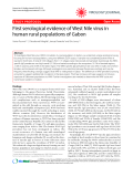 """Báo cáo y học: """" First serological evidence of West Nile virus in human rural populations of Gabon"""""""