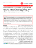 "Báo cáo y học: ""Concentration of acrylamide in a polyacrylamide gel affects VP4 gene coding assignment of group A equine rotavirus strains with P[12] specificity"""