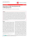 "Báo cáo y học: "" Association of ABO blood groups with Chikungunya virus Short report"""