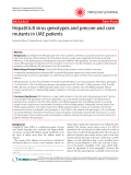 "Báo cáo y học: "" Hepatitis B virus genotypes and precore and core mutants in UAE patients"""